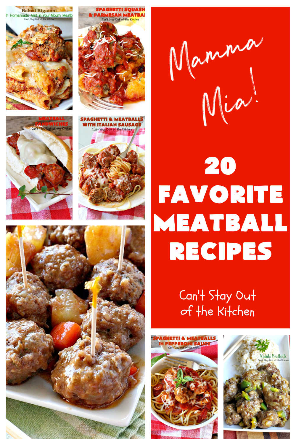 20 Favorite Meatball Recipes | Can't Stay Out of the Kitchen | #appetizers, #sliders & #sandwiches & lots of different ways to enjoy #meatballs without every version being #SpaghettiAndMeatballs! #beef #20FavoriteMeatballRecipes #MeatballRecipes