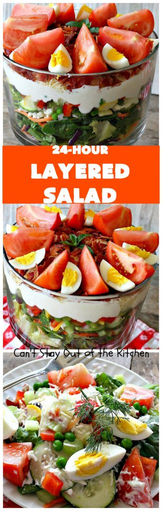 24-Hour Layered Salad | Can't Stay Out of the Kitchen