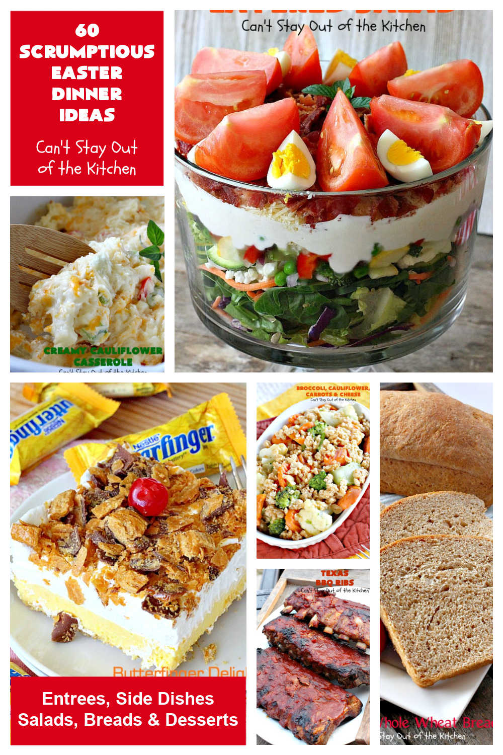 60 Scrumptious Easter Dinner Ideas | Can't Stay Out of the Kitchen | Beef up your #Easter dinner menu with some new #recipes! Choose from #entrees, #SideDishes, #Salads, #Breads or #Desserts. #EasterDinnerMenu #Easter #EasterDinner #60ScrumptiousEasterDinnerIdeas