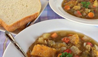 Acorn and Butternut Squash Soup