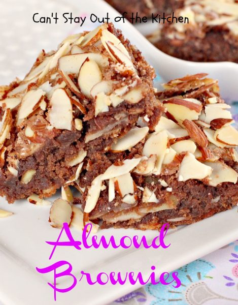 Almond Brownies | Can't Stay Out of the Kitchen