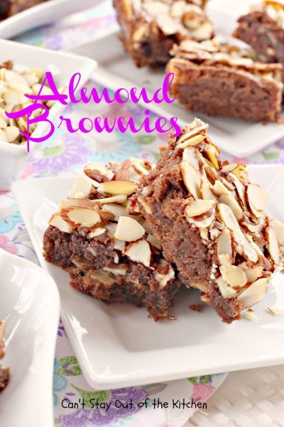 Almond Brownies - IMG_1270