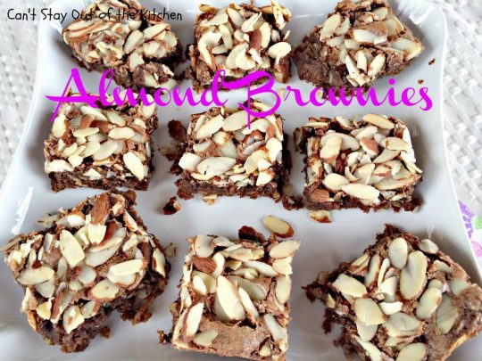 Almond Brownies - IMG_5640