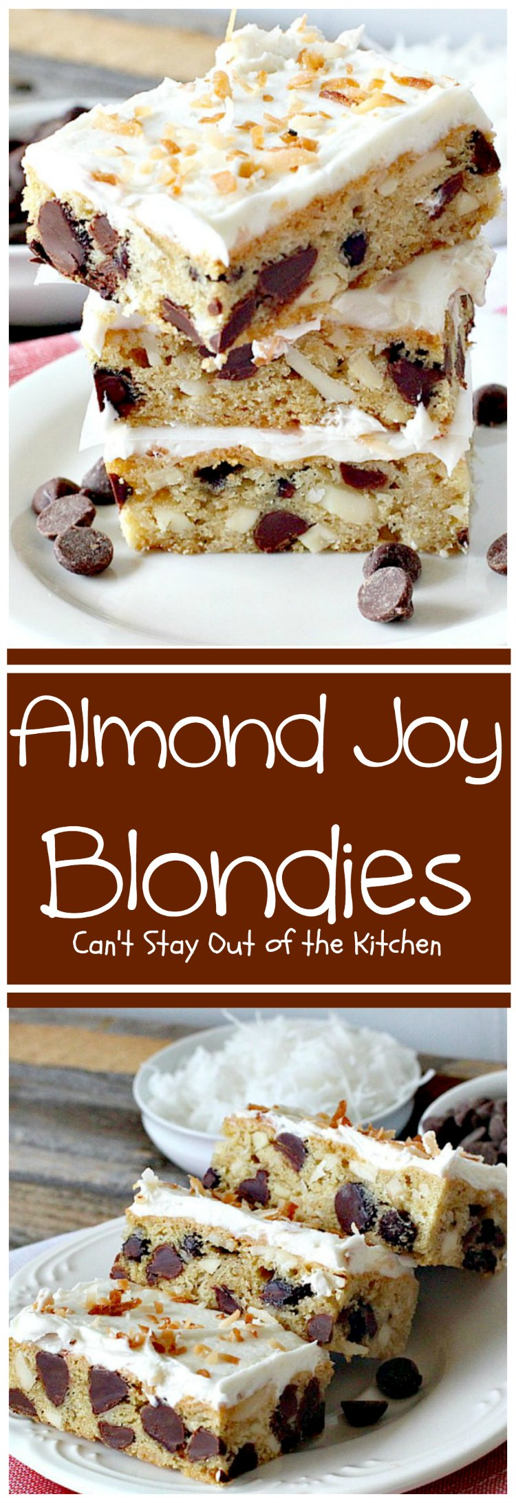Almond Joy Blondies - Can\'t Stay Out of the Kitchen