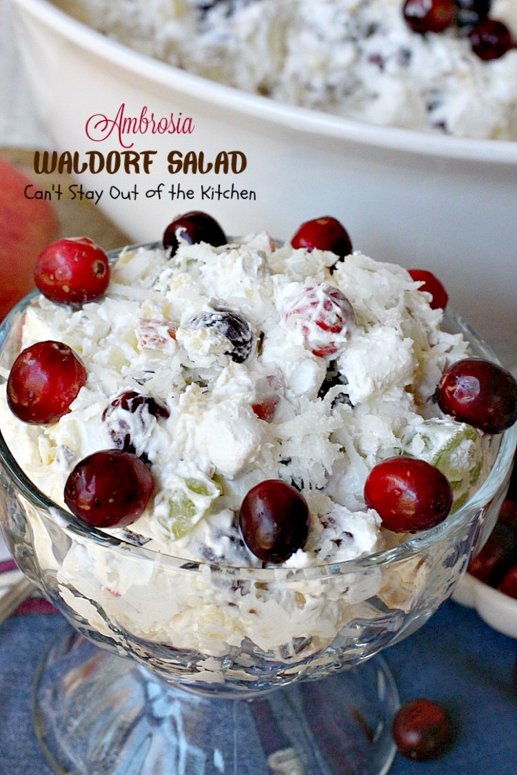 Ambrosia Waldorf Salad | Can't Stay Out of the Kitchen