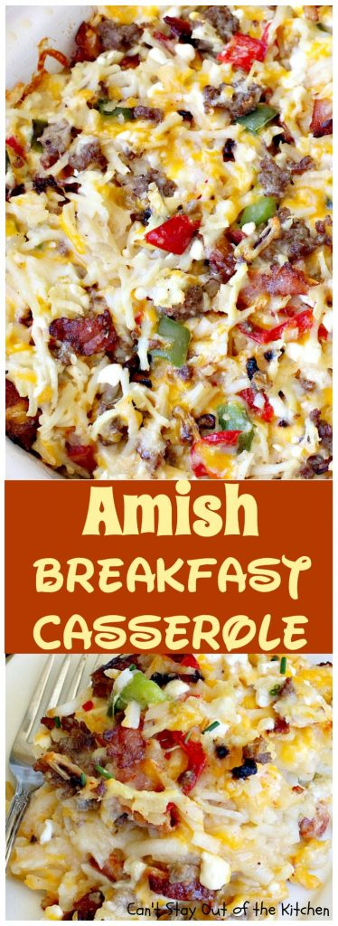 Amish Breakfast Casserole | Can't Stay Out of the Kitchen