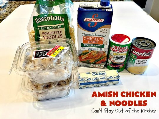 Amish Chicken and Noodles | Can't Stay Out of the Kitchen | this fantastic 30-minute recipe uses only 6 ingredients. It's so quick & easy for weeknight dinners. We've served it several times for company & everyone loved it! #Amish #chicken #noodles