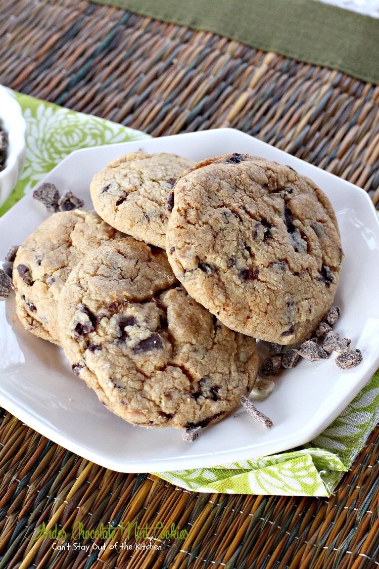 Andes Chocolate Mint Cookies - Can't Stay Out of the Kitchen