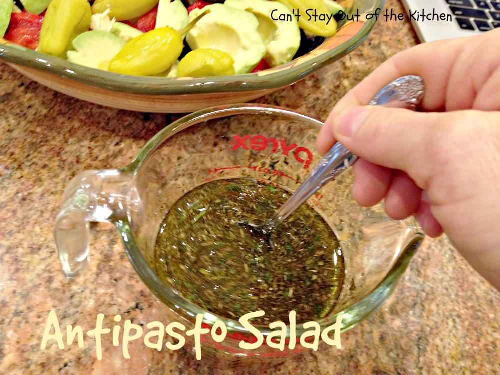 how to make antipasto salad dressing