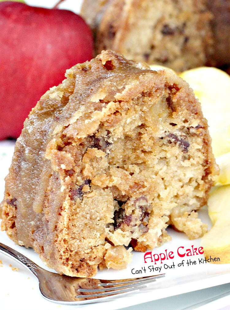 Apple Cake | Can't Stay Out of the Kitchen | This lovely #cake is wonderful for a #holiday #breakfast or #dessert. #apples #coffeecake