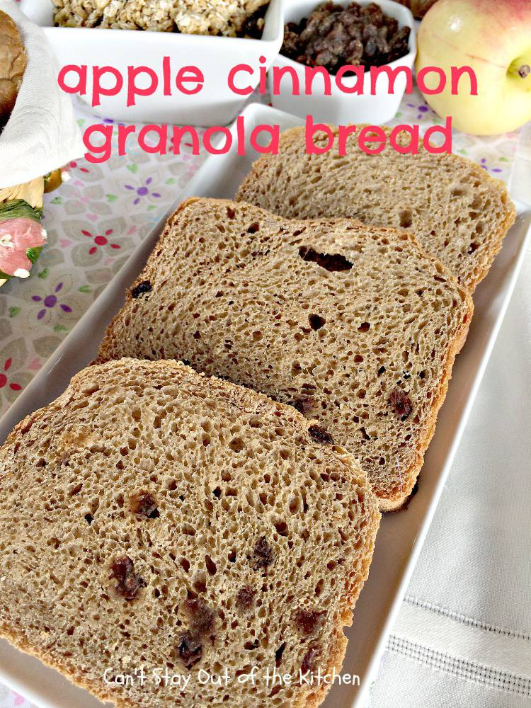 Granola Bread is great for breakfast, it's also a nice dinner bread ...