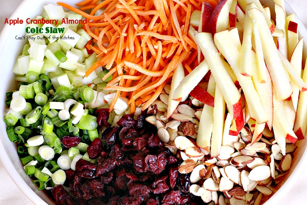 Apple Cranberry Almond Cole Slaw – Can't Stay Out of the