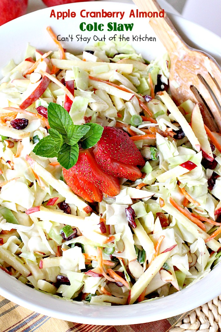 Apple Cranberry Almond Cole Slaw
