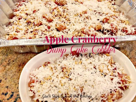 Apple Cranberry Dump Cake Cobbler - IMG_1069