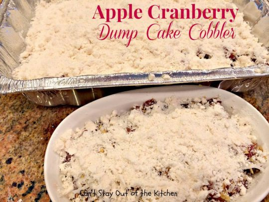 Apple Cranberry Dump Cake Cobbler - IMG_1070