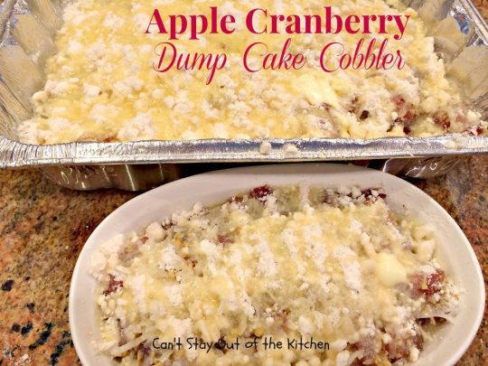 Apple Cranberry Dump Cake Cobbler - IMG_1072