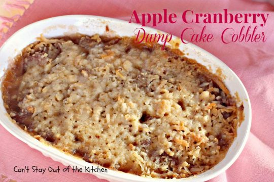 Apple Cranberry Dump Cake Cobbler - IMG_7877