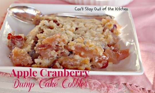 Apple Cranberry Dump Cake Cobbler - IMG_7882