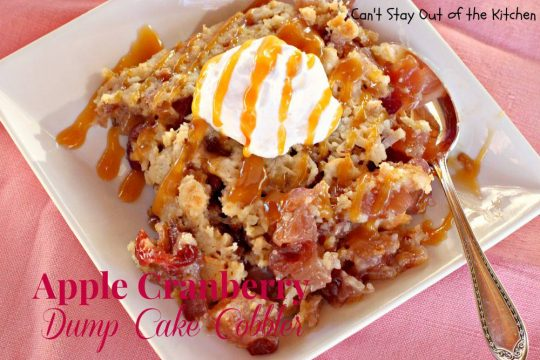 Apple Cranberry Dump Cake Cobbler - IMG_7924