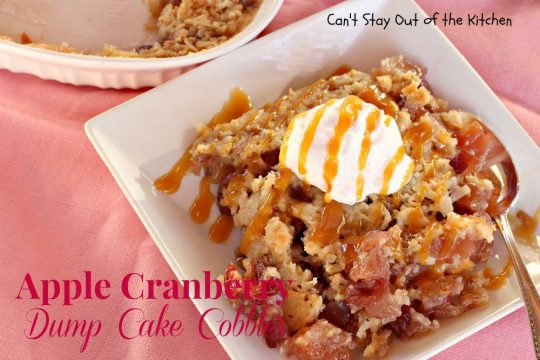 Apple Cranberry Dump Cake Cobbler - IMG_7927