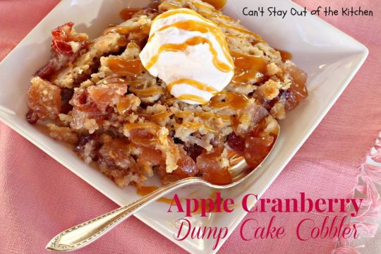 Apple Cranberry Dump Cake Cobbler - IMG_7932
