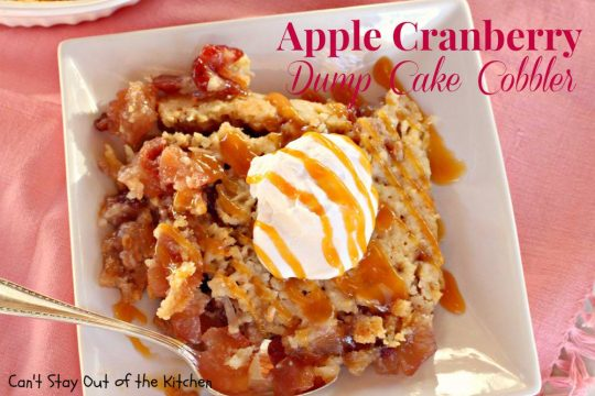 Apple Cranberry Dump Cake Cobbler - IMG_7940