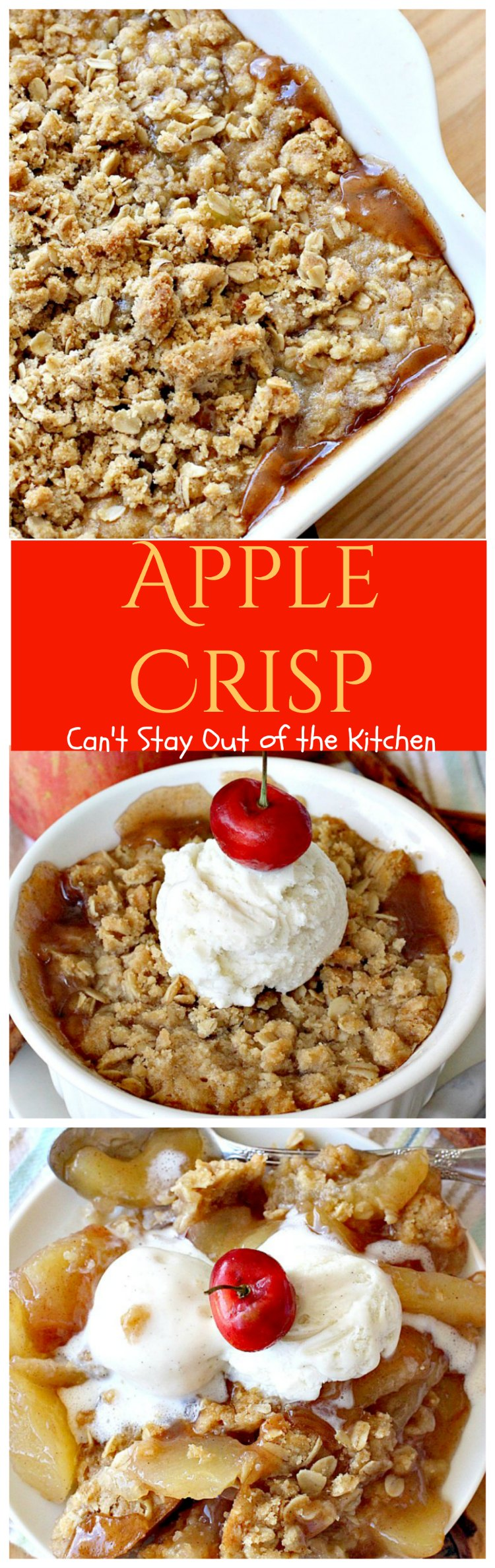 Apple Crisp Can T Stay Out Of The Kitchen