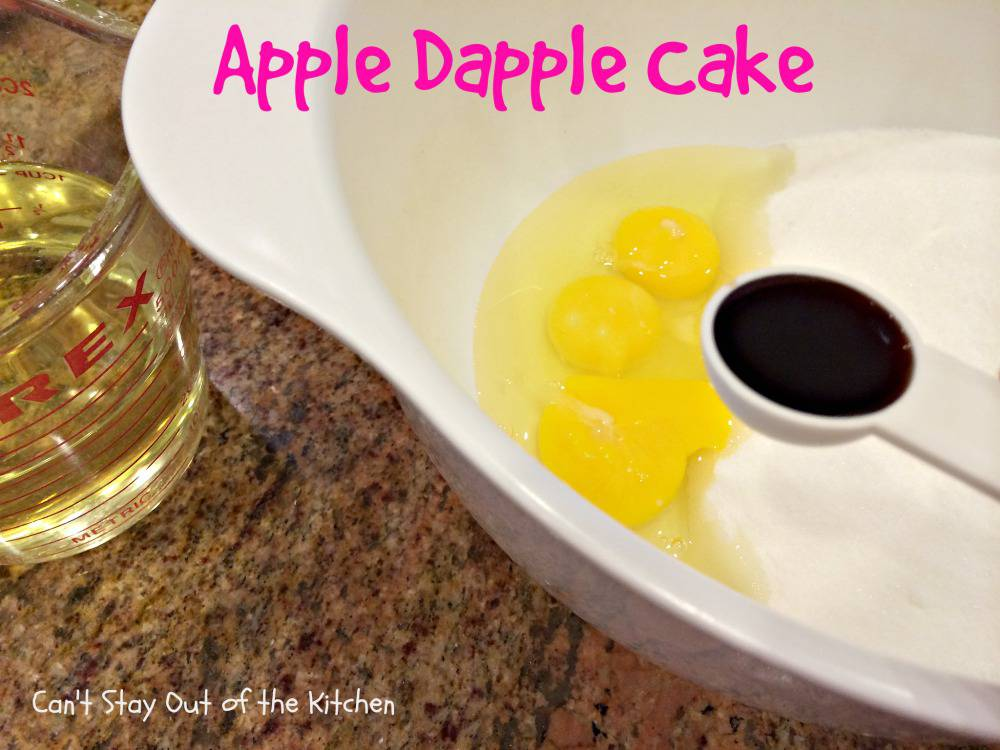 Apple Dapple Cake - Can't Stay Out of the Kitchen