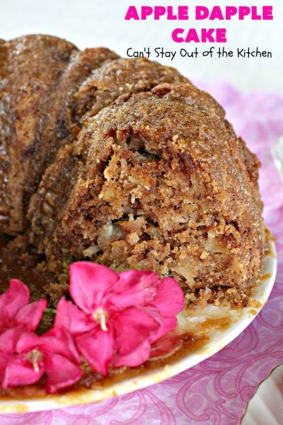 Apple Dapple Cake | Can't Stay Out of the Kitchen | this favorite #apple #cake is filled with #apples, #walnuts & #coconut. It's a terrific #dessert cake or can be used as a #breakfast #coffeecake. #applecake