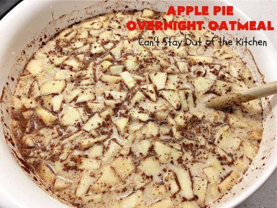 Apple Pie Overnight Oatmeal | Can't Stay Out of the Kitchen | this fantastic #oatmeal #recipe uses steel-cut oats & cooks them up to perfection in the #crockpot. They're filled with #apples & #cinnamon for great #ApplePie flavor. Using a programmable #SlowCooker makes this a wonderful #breakfast idea for a #holiday breakfast too. #healthy, #vegan #GlutenFree #SugarFree #HolidayBreakfast #OvernightOatmeal #ApplePieOvernightOatmealApple Pie Overnight Oatmeal | Can't Stay Out of the Kitchen | this fantastic #oatmeal #recipe uses steel-cut oats & cooks them up to perfection in the #crockpot. They're filled with #apples & #cinnamon for great #ApplePie flavor. Using a programmable #SlowCooker makes this a wonderful #breakfast idea for a #holiday breakfast too. #healthy, #vegan #GlutenFree #SugarFree #HolidayBreakfast #OvernightOatmeal #ApplePieOvernightOatmeal