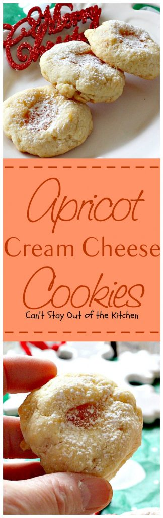 Apricot Cream Cheese Cookies | Can't Stay Out of the Kitchen
