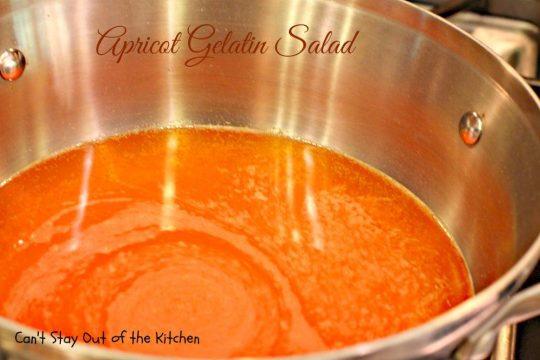 Apricot Gelatin Salad - IMG_0635