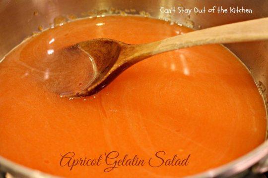 Apricot Gelatin Salad - IMG_0639