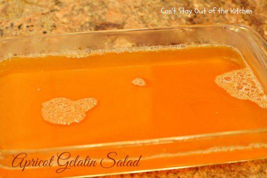 Apricot Gelatin Salad - IMG_0641