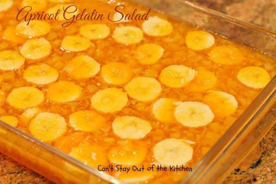 Apricot Gelatin Salad - IMG_0646