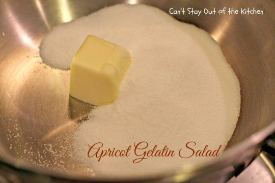 Apricot Gelatin Salad - IMG_0649