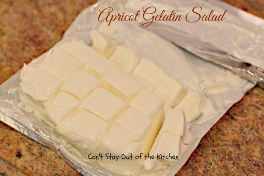 Apricot Gelatin Salad - IMG_0652