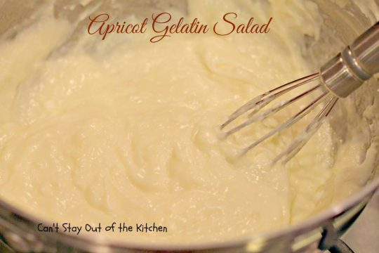 Apricot Gelatin Salad - IMG_0655