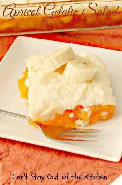 Apricot Gelatin Salad - IMG_0810