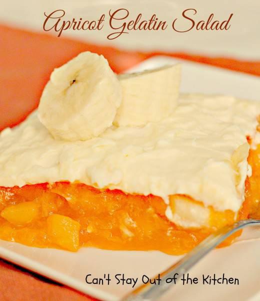 Apricot Gelatin Salad - IMG_0826