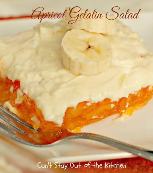 Apricot Gelatin Salad - IMG_0842
