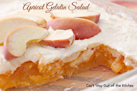 Apricot Gelatin Salad - IMG_0908