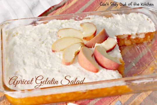 Apricot Gelatin Salad - IMG_0934