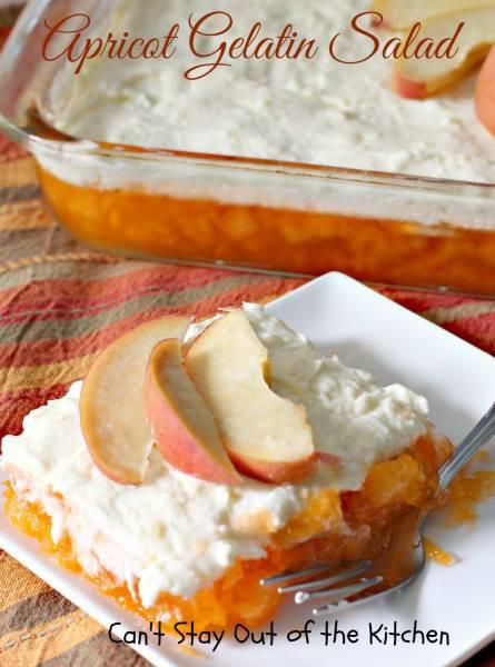 Apricot Gelatin Salad - IMG_0941