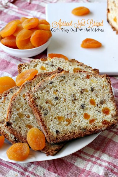 Apricot Nut Bread | Can't Stay Out of the Kitchen | one of the best #apricot #breads you'll ever taste. Quick, easy & great for #holidays or whenever you want to satisfy your sweet tooth! #breakfast
