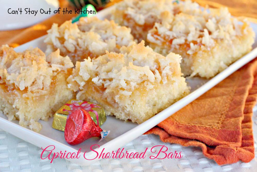 Apricot Shortbread Bars are great to take to holiday parties and share ...