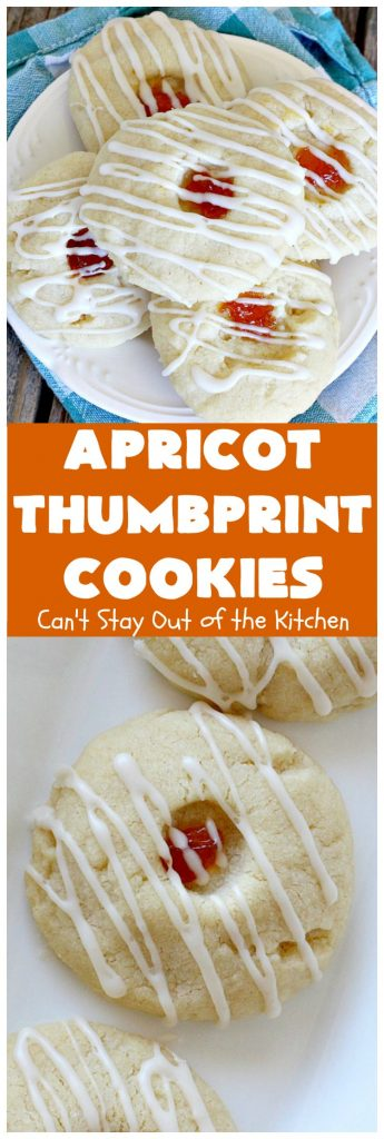 Apricot Thumbprint Cookies | Can't Stay Out of the Kitchen