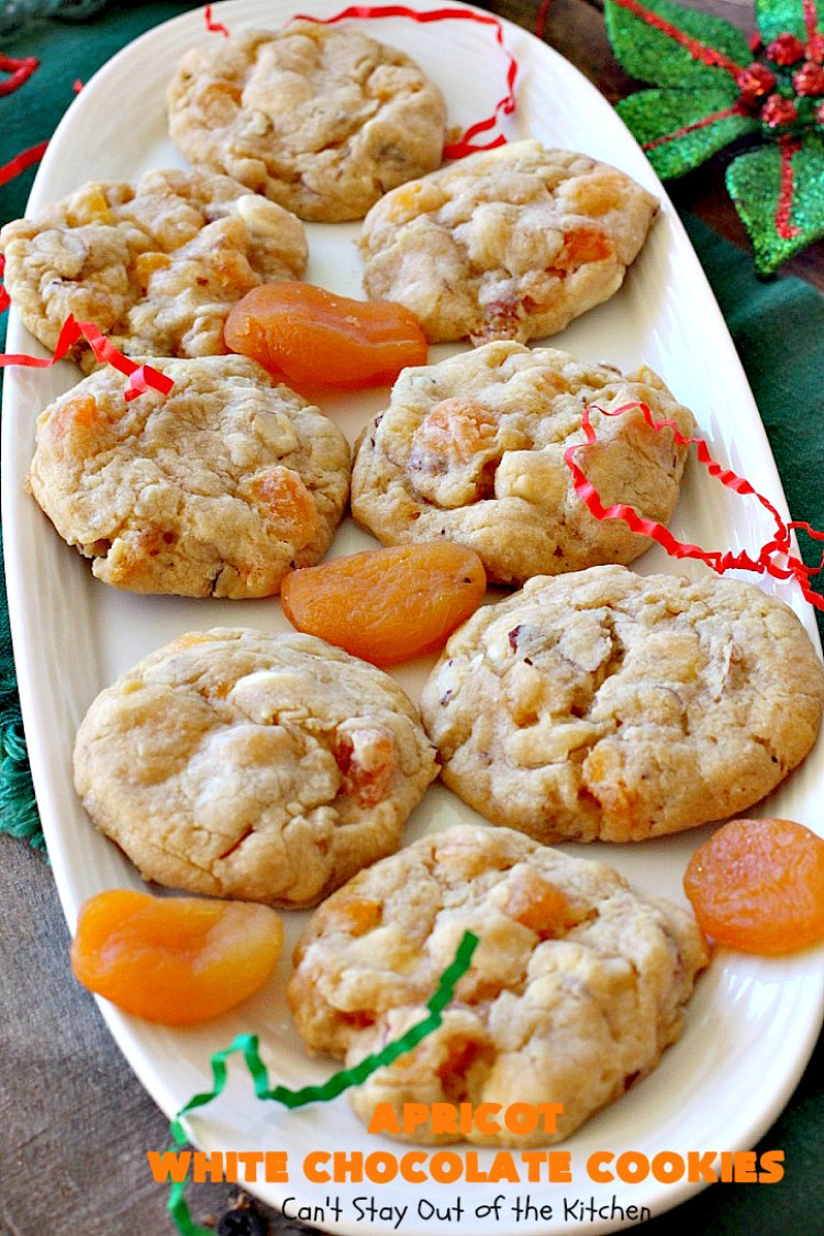 Apricot White Chocolate Cookies