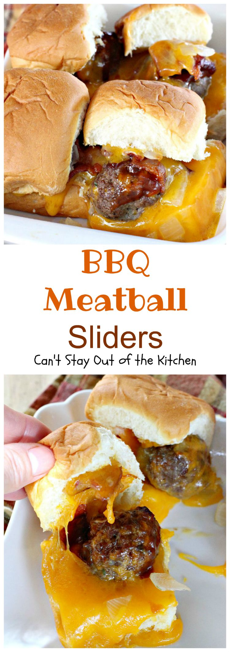 BBQ Meatball Sliders | Can't Stay Out of the Kitchen