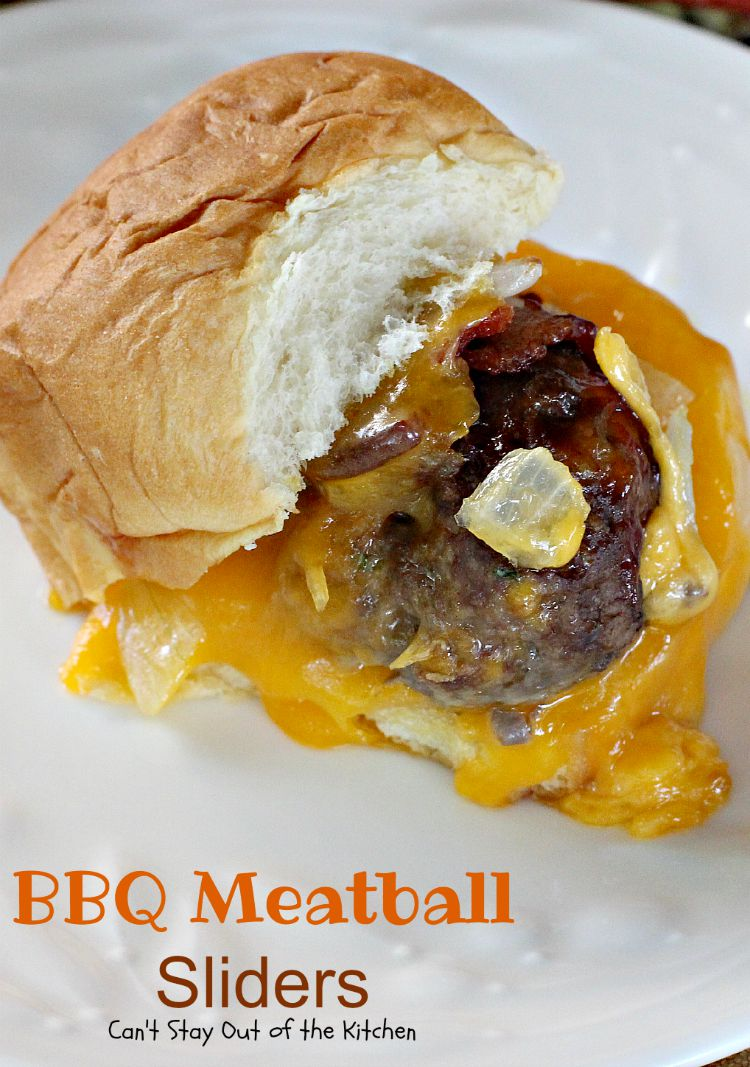 Every bite of BBQ Meatball Sliders is so scrumptious that you'll ...